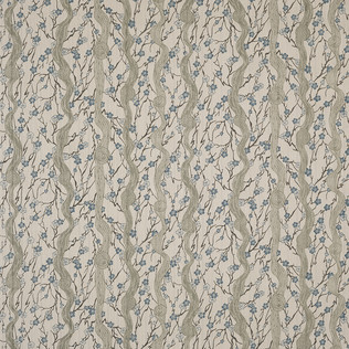 Jasper Fabrics in Flowering Vine - Blue/Sage