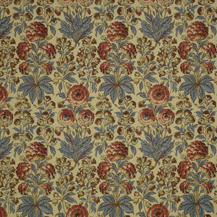 Jasper Fabrics inIsle Flower - Blue/Coral