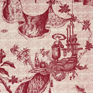 Jasper Fabrics inChinese Toile - Lychee