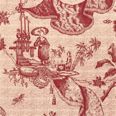 Jasper Fabrics inChinese Toile - Red Tea