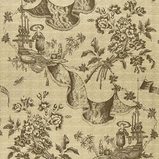 Jasper Fabrics inChinese Toile - Vison
