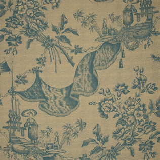 Jasper Fabrics inChinese Toile - Turquoise