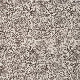 Jasper Fabrics inWoodblock Flower- Brown