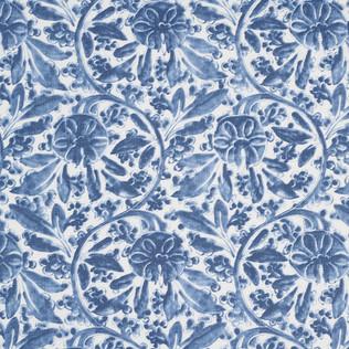 Jasper Fabrics inPagoda Vine - Indigo