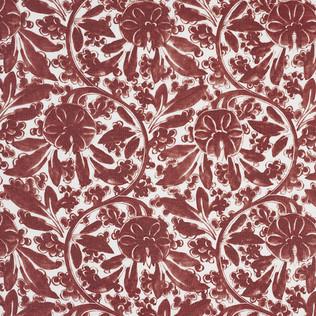Jasper Fabrics inPagoda Vine - Red