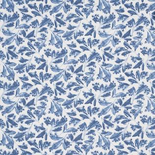 Jasper Fabrics inPagoda Leaf - Indigo