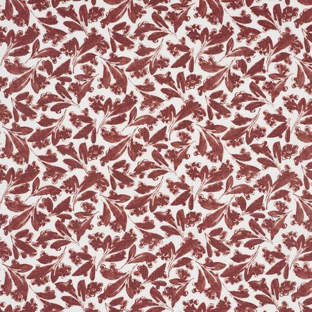 Jasper Fabrics inPagoda Leaf - Red