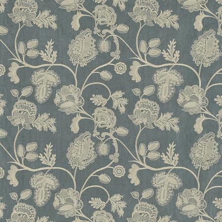 Jasper Fabrics inChennai - Cream on Blue