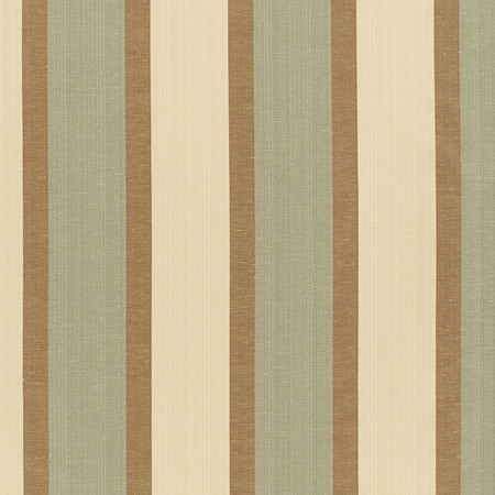 Templeton Fabric in Waverly Stripe - Brown/Teal