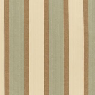 Templeton Fabric inWaverly Stripe - Brown/Teal