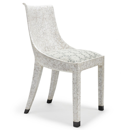 181 1 eggshell crackle dining chair %282%29