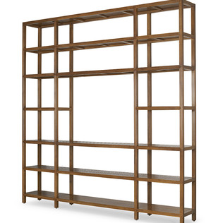 Jasper Furniture SLATTED SHIP MEDIA DISPLAY & SHELVING UNIT