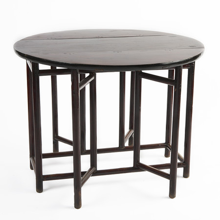 424 1 lucas drop leaf table open