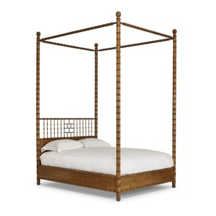 Jasper Furniture FAUX BAMBOO BED - 4 POST AND CANOPY
