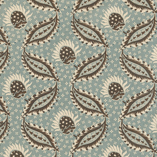 Jasper Fabrics inRemy - Blue/Brown