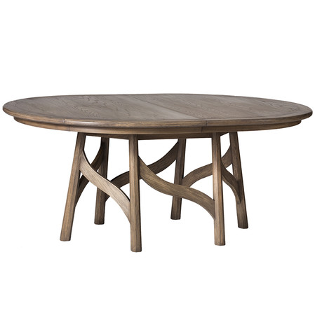 Bailley oval ext dining table on white jasper