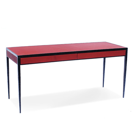 Tabalta desk forged red leather