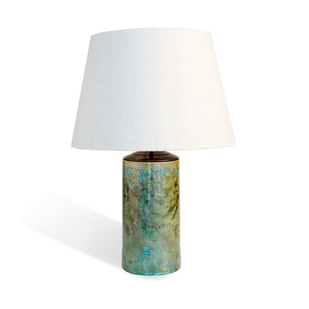 Cannula table lamp in forres glaze with shade