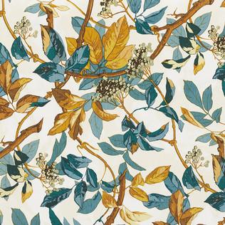 Jasper Fabrics inScarlet Vine - Cyan