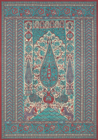 Jp 4105 jaipur panel   turquoise
