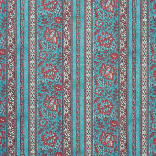 Jasper Fabrics inJaipur Stripe - Turquoise