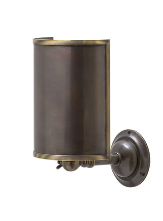 Jamb hanbury wall mo brown bronze reeded antique brass