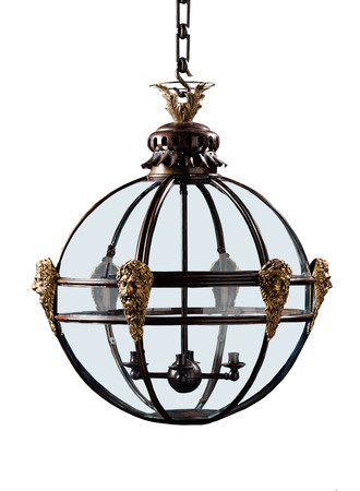 Jamb mask globe hanging lighting