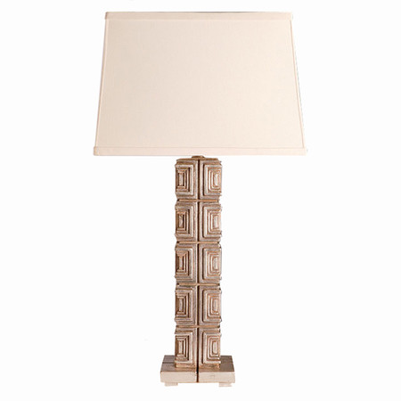 Aesthetic decor 120 textile block table lamp