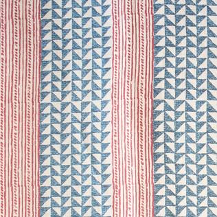 Aegean Stripe - Indigo/Cinammon