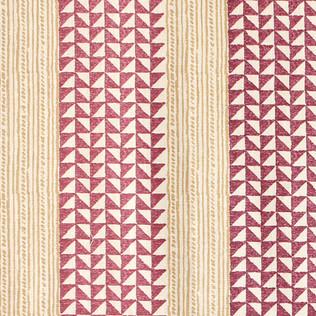 Aegean Stripe - Plum/Saffron