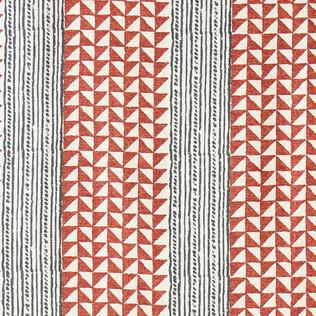 Aegean Stripe - Terracotta/Indigo
