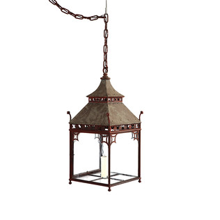 Pagoda Lantern - Painted Jasper Lighting