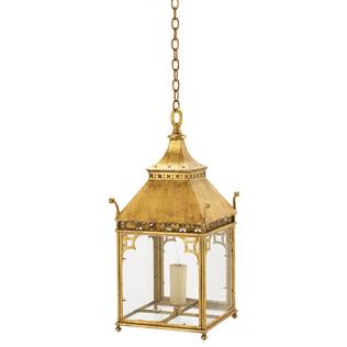 Pagoda Lantern - 22K Gold Jasper Lighting