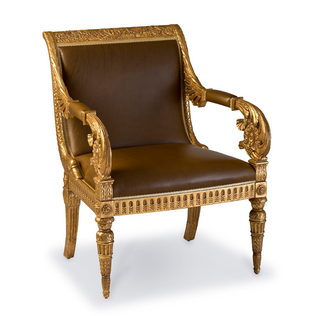 Vaux Gilt Armchair Jasper Furniture