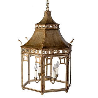 Pagoda Lantern - Hexagonal Jasper Lighting