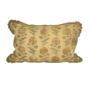 Jasper Pillow Indian Flower Saffron