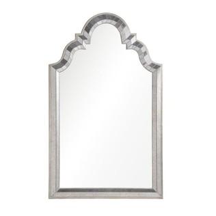 antiqued mirror framed mirror with antiqued silver leaf sides - Metal Mirror Frame
