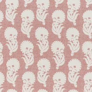 Jasper Outdoor Fabric in Indian Garden - Red