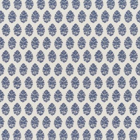 Jasper Outdoor Fabric inIndian Garden Paisley - Indigo