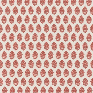 Jasper Outdoor Fabric in Indian Garden - Red