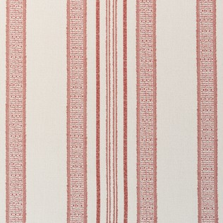 Jasper Outdoor Fabric in Indian Garden Stripe - Red
