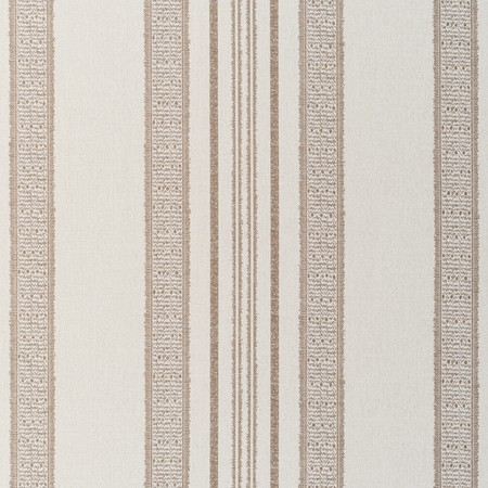 Jasper Outdoor Fabric in Indian Garden Stripe - Brown