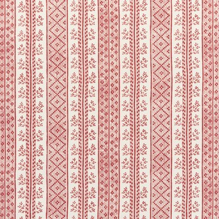 Jasper Fabric Dutch Stripe - Red