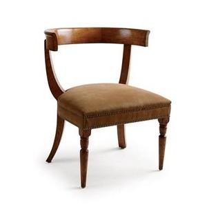 Jacob Chair Whiskey Suede Antiqued Warm Oak Gothic Sidechair Jasper Furniture