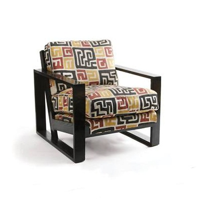 French Art Deco Chair - Small  Ebony Jasper Furniture