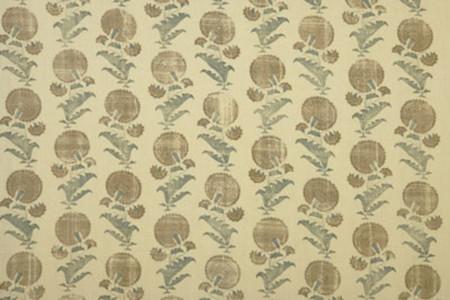 Indian Flower - Brown Jasper Fabric