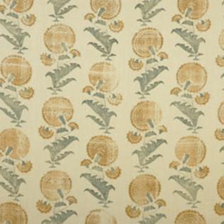 Indian Flower - Saffron Jasper Fabric