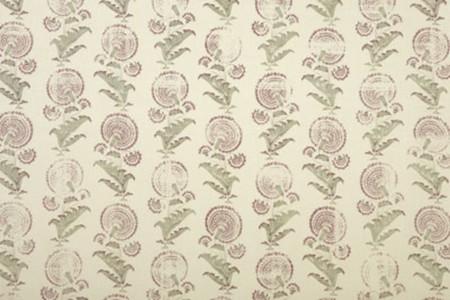 Indian Flower - Sage/Clay Jasper Fabric