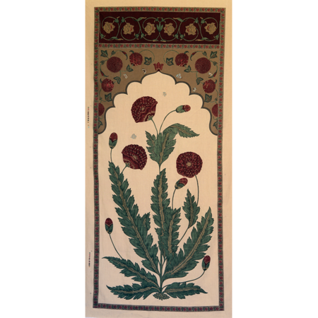 Moghul Panel - Burgundy Jasper Fabric