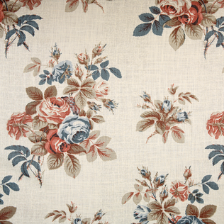 Bentley Rose - Cinnamon Jasper Fabric